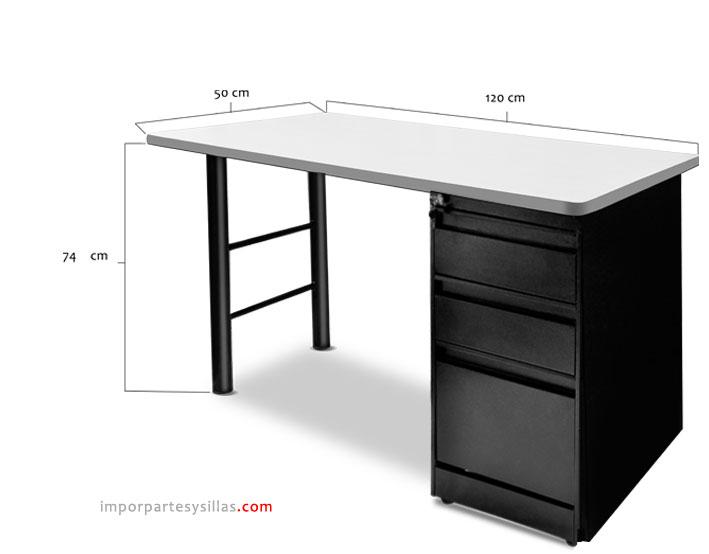 Escritorio de oficina ares for Dimensiones escritorio oficina
