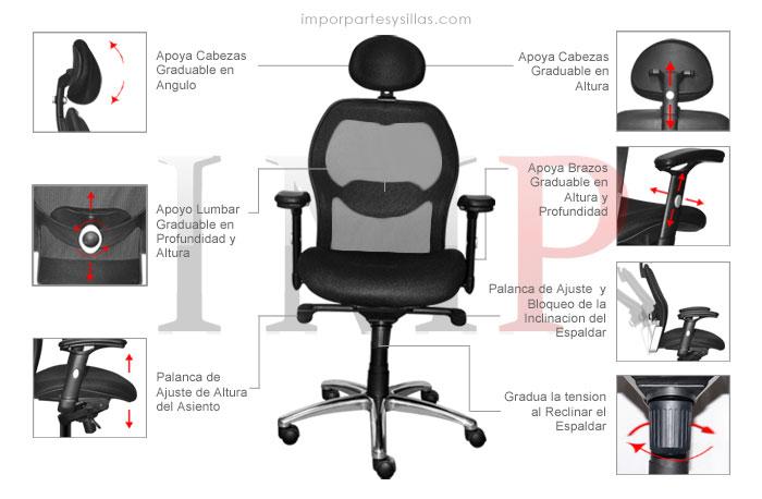 Silla para oficina atenas for La oficina caracteristicas
